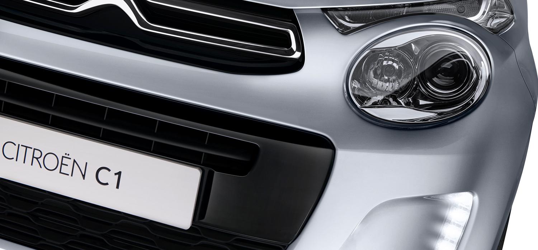 Nieuwe Citroën C1 voorkant