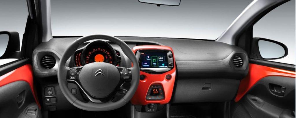 Binnenzijde Citroën C1