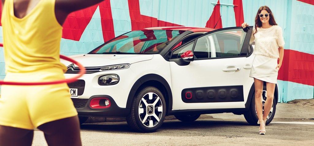 Nieuwe Citroën C3 voorkant/zijkant