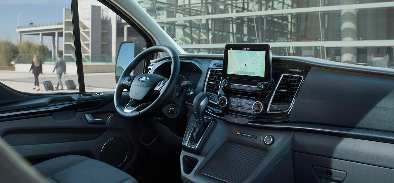 Binnenkant Ford Tourneo elektrisch