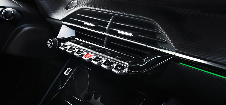 Peugeot 208 dashboard toetsen