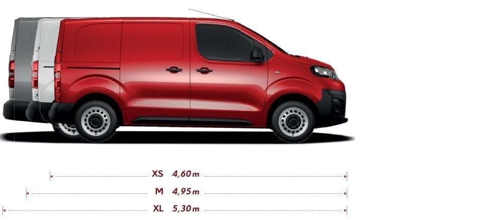 Citroën Jumpy afmetinge