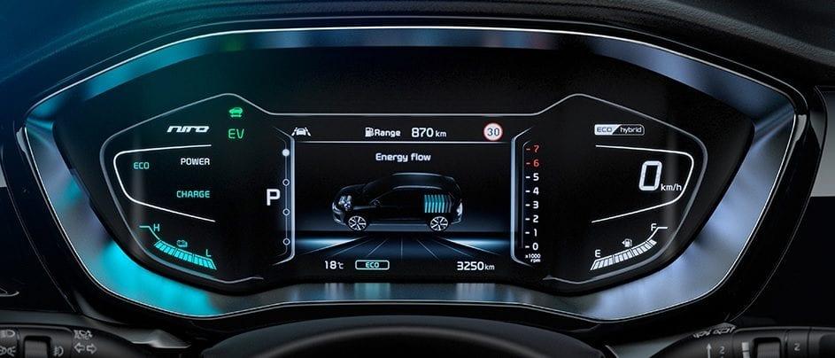 Kia Niro Hybrid dashboard