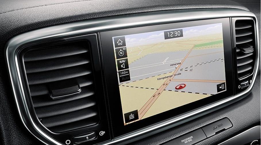Kia Sportage navigatie