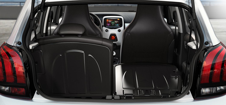 Peugeot 108 kofferbak ruimte