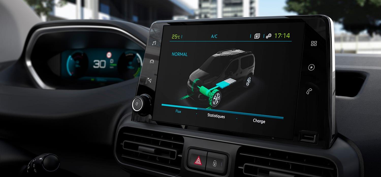 Peugeot e-Partner Dashboard